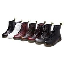 ขนาดใหญ่10 ~ 13จริงหนังมาร์ตินผู้ชายรองเท้าผู้หญิงหิมะรองเท้าทหารสาวสำหรับรองเท้าที่เดินสบายๆฤดูหนาวF Emme Bota 2016