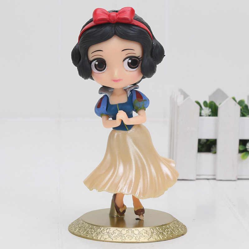 Fairy Princess boneca figura Q Posket Mulan Mermaid Solha e Ariel Branca de Neve a Bela Ea Fera Belle Brinquedo Bolo Topper decoração