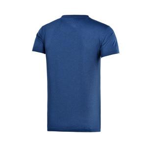 Image 5 - Li Ning Mannen Training T shirts ATDRY Comfortabele Korte Mouw O hals Voering Sport T shirt AHSM289 MTS2666