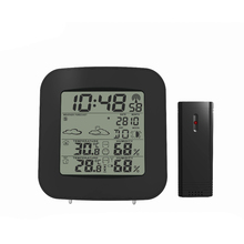 Wholesale prices Digital LCD Thermometer Hygrometer Electronic Temperature Humidity Meter Weather Station Indoor Outdoor Tester Alarm Clock Wirel