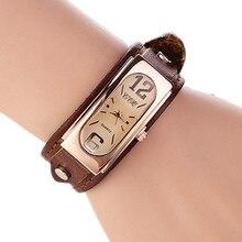 Femmes Mode Vintage Quartz Montres Casual Bracelet En Cuir Montre Montres Pour Dames Analogique Horloge Relojes Mujer Feminino