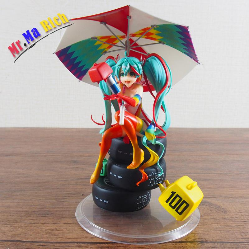 23cm Anime Action Figure Vocaloid Hatsune Miku Racing Miku 2016 Second Ver Pvc 1/8 Scale Painted Figure Model Collectible Doll naruto kakashi hatake action figure sharingan ver kakashi doll pvc action figure collectible model toy 30cm kt3510