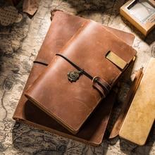 دفتر ملاحظات من الجلد الطبيعي الكلاسيكي Yiwi A5 A6 A7 دفتر مذكرات للسفر دفتر مخطط لدفتر الرسم أجندة ذاتية الصنع عبوة ورقية للمدرسة