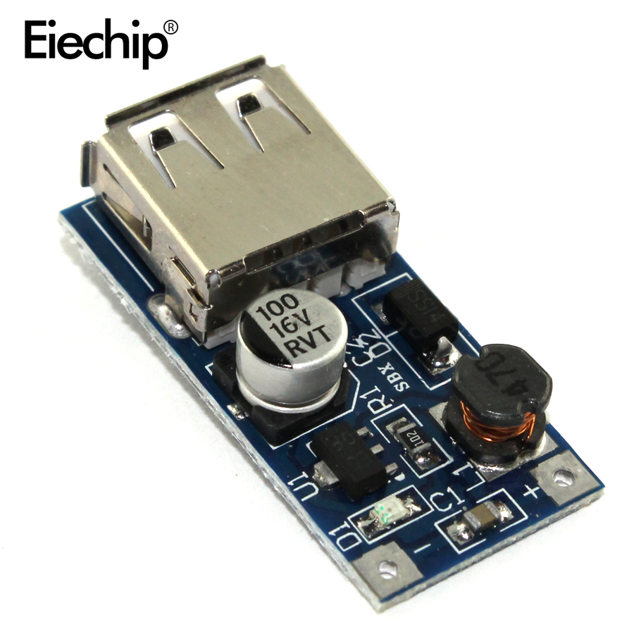DC-DC USB Step-up Power-Boost-Modul 0,9 V-5 V zu 5V 600mA PFM Steuerung Mini mobile Boost Konverter DC DC Step Up Für Arduino