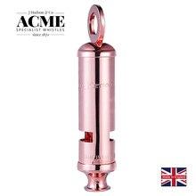 ACME Metropolitan 15 Ограниченная серия, розовая Золотая сирена, свисток, лазерная гравировка, модные аксессуары, свисток для выживания на открытом воздухе