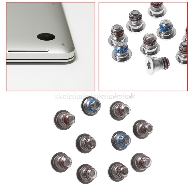 "NEW Bottom Cover Case Screws 10PCs for Macbook Pro 15/"" A1398 2012 2013 2014 2015"