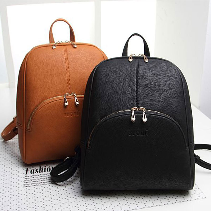 2016 New Design!Fashion Women Backpack High quality PU leather Black Natural Travel Bag casual vintage Girl Student School bag stacy bag hot sale new arrival high quality women pu leather backpack sweet girl small vintage backpack pink beige black blue