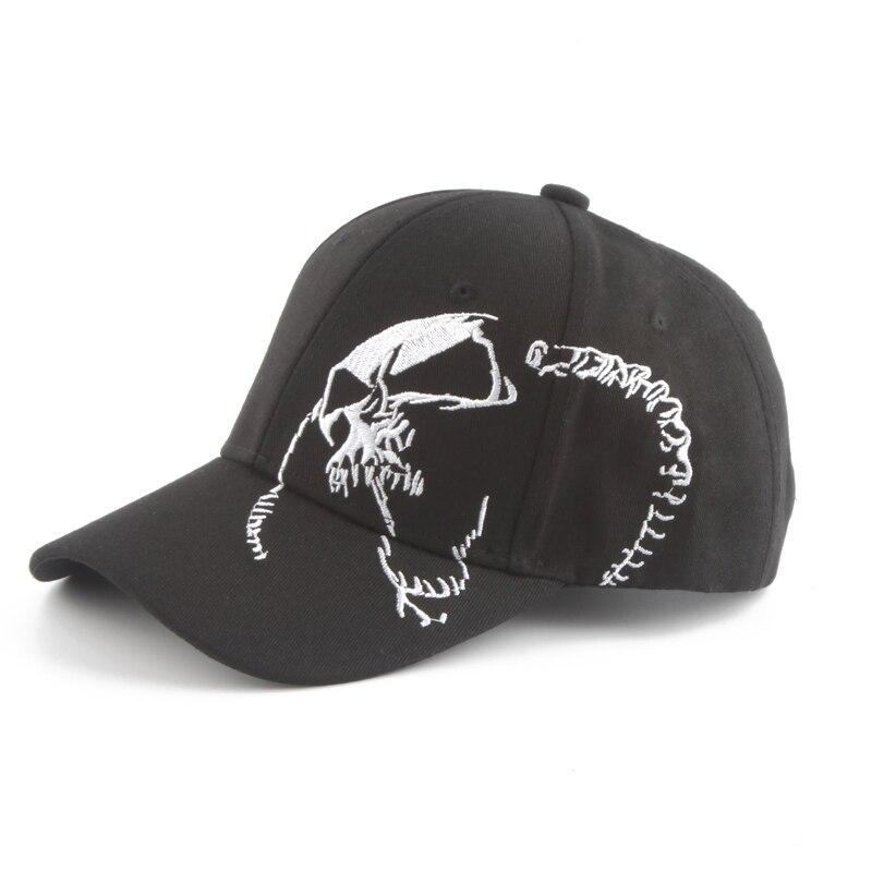 Unisex Skull Embroidery Baseball Cap Mens Womens Baseball Hat Outdoor Sport Snapback Hats