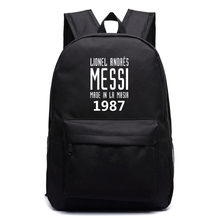 Messi Foot Ball Canvas Bag Backpack Boys Girls School Bag For Teenagers Men Women Large Capacity RuckSack Travel Laptop Bag цена