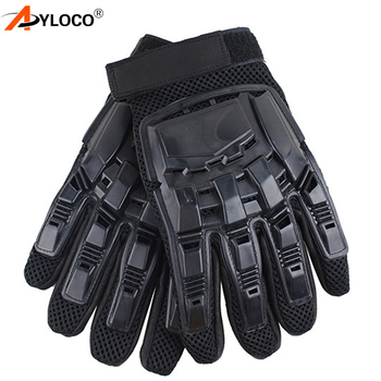 Mens Leather Driving Gloves Tactical Gloves Military Armed Paintball Airsoft Outdoor Sports Fitness Gloves Full Finger Guantes