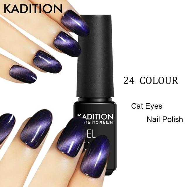 KADITION Shinny Soak Off Cats Eye Magnetic Magnet nail polish 12 ...
