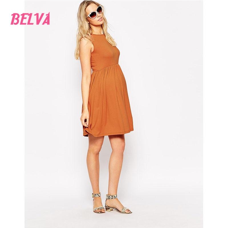 Belva ärmellose Schwangerschaft süße Kleidung Halfter Bogen Phantasie Sommerkleider casual Umstandskleider Umstandskleider elegant 624874