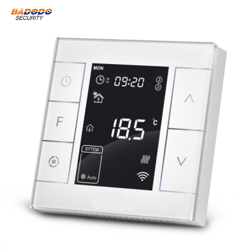 Z Wave plus enabled programmable thermostat Heating Thermostat MCO home MH7H compatible with Fibaro Vera gateway