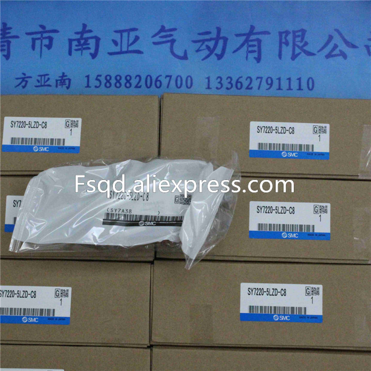 SY7220-5LZD-C8 SMC solenoid valve electromagnetic valve pneumatic component air valve sy7220 5lze 02 smc solenoid valve electromagnetic valve pneumatic component air tools sy7000 series