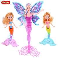 Oenux 3PCS New Design Fashion Swimming Mermaid Dolls Girl Toys Moxie Princess Mermaid Doll Bonecas Toy