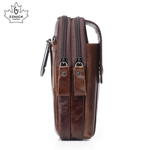 Image 3 - Hakiki Deri Bel Paketleri Paketi bel çantası Çanta Telefon kılıflı çanta Seyahat Bel Paketi Erkek Bel erkek çanta Moda Flep