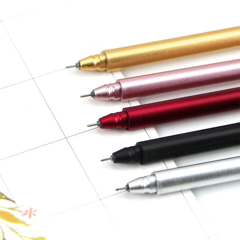 الكورية القرطاسية المعادن اليد قلم محايد اللون 0.5 مللي متر الإبداعية مكتب قلم توقيع اللوازم المدرسية الكتابة