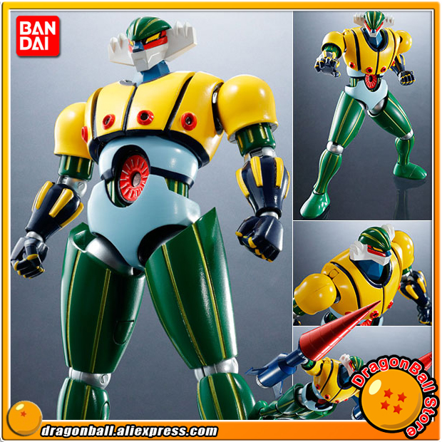 "Japan Anime ""Steel Jeeg"" Original BANDAI Tamashii Nations Super Robot Chogokin Action Figure - Steel Jeeg"