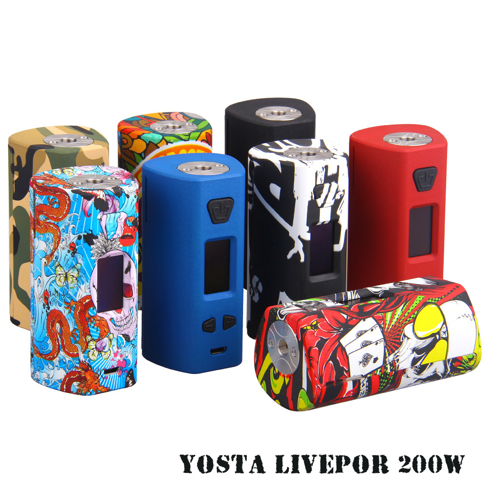 Mods de cigarettes électroniques Yosta Livepor 200 W boîte mod Compatible 18650 batterie contrôle de température 510 fil