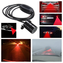 1PC 12V Car Truck Red LED Fog Anti-collision Warning Signal Tail Driving Light