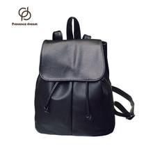 Girls Backpack PU leather Women Backpack Lovely Black School Female Bag PDSJB-03