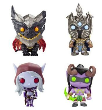 WOW ILLIDAN & ARTHAS & SYLVANAS & Deathwing Figure Model Collection