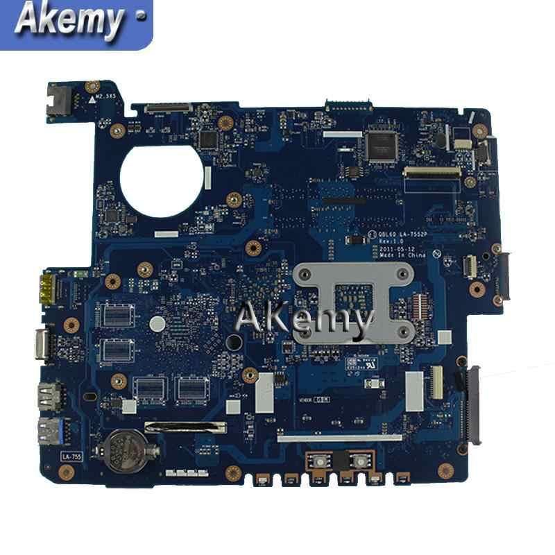 AK K53Z Laptop płyta główna For Asus K53TA K53TK K53T K53 K53Z Test oryginalna płyta główna LA-7552P REV:1.0
