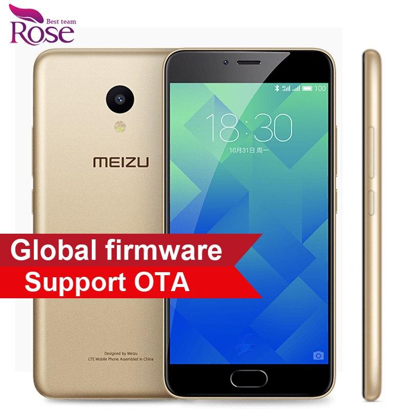 """Original Meizu M5 2GB RAM 16GB ROM Mobile Phone MTK MT6750 Octa Core 5.2"""" 4G LTE 2.5D Glass 1280*720 13MP Fingerprint ID 3070mA"""