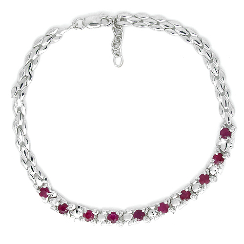 2017 Promotion Qi Xuan_Free Mail Red Stone Luxury Bracelets_S925 Solid Silver Fashion Bracelets_Manufacturer Directly Sales2017 Promotion Qi Xuan_Free Mail Red Stone Luxury Bracelets_S925 Solid Silver Fashion Bracelets_Manufacturer Directly Sales