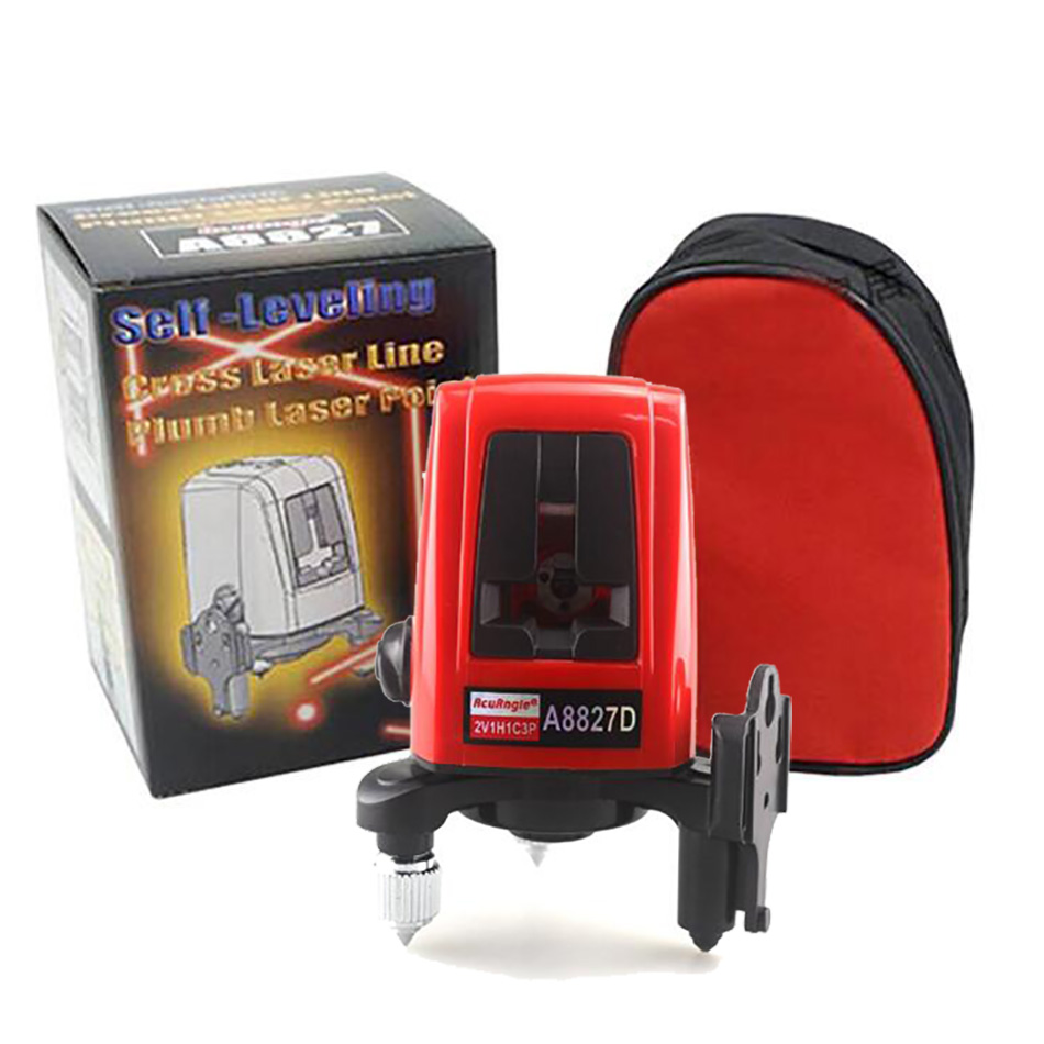 A8827D Laser Level 360degree 3 Lines 3 points Red Line Laser Levels Measuring Tool for Construction Diagnostic-tool цена