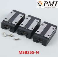 2pcs Original Taiwan PMI MSB25S MSB25S N MSB25SSSFC N linear guideway slide block Carriage for CO2 laser machine CNC router