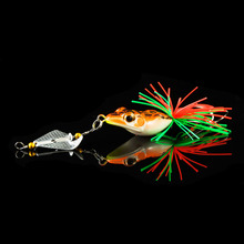 1PCS Hard Fishing Lure With Propeller Large Noise Isca Frog Lure 135mm 9g Pesca Frog Sinking Snakehead Bait Fishing Lure