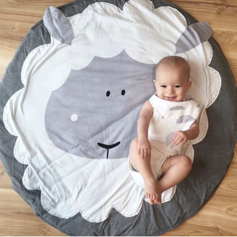 Mother & Kids New Fashion Kidlove Cute Baby Infant Crawling Activity Pad Round Kids Crawling Carpet Rabbit Blanket Cotton Game Pad Children Room Decor Activity & Gear