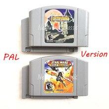 Star Wars gwiezdne wojny czy Ko64 Castlevania Conkers dzień wersja PAL kaseta dla 64 bit konsola ue gra wideo konsoli język angielski karty