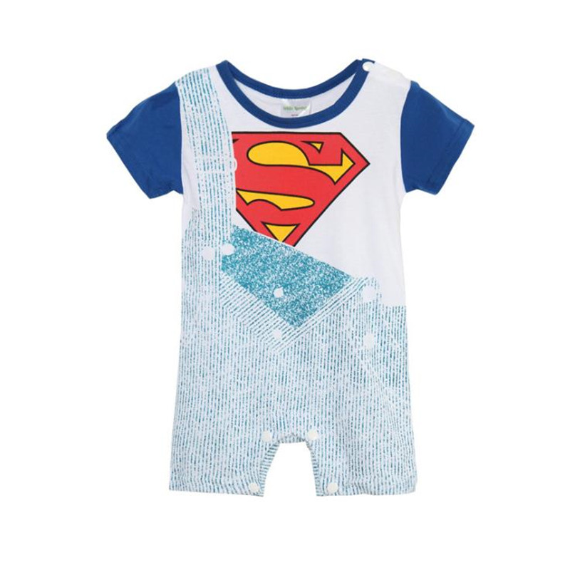 4050d6af6 Baby Rompers Summer Baby Boys Short Sleeve Romper Fake Belt Cotton ...