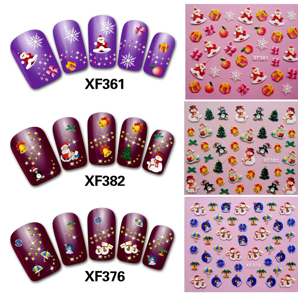 Best Deal 50PC New Nail Art Sticker Water Transfer Stickers Christmas 3D Decoration Flower Nail decoration клей активатор для ремонта шин done deal dd 0365