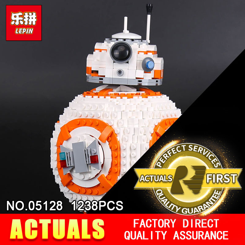 Lepin 05128 1238Pcs STAR The Double B 8 Robot Set Genuine Classic Series Model 75187 Building Blocks Bricks Christmas gifts WARS цена