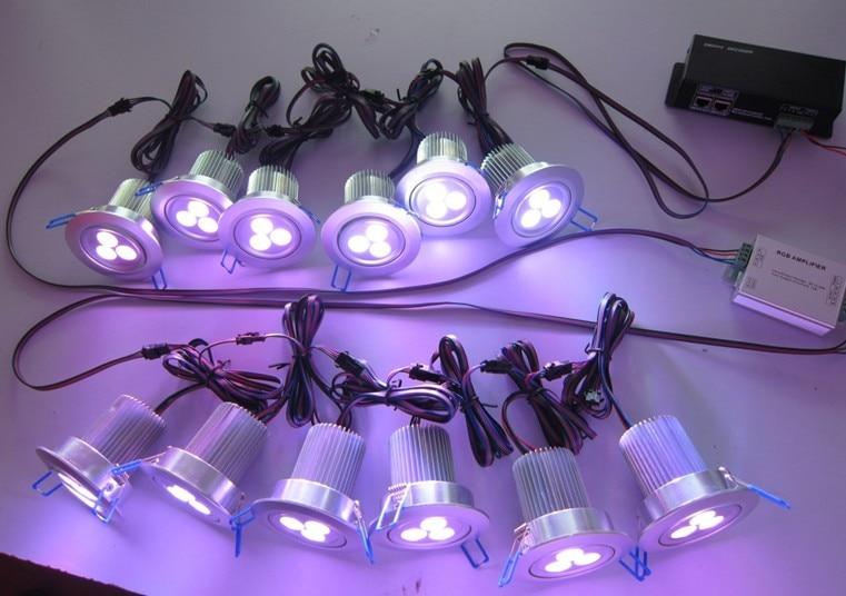 transport gratuit în America de Nord 4wires rgb 3in1 3X3W led plafon - Iluminatul interior - Fotografie 6