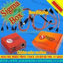 Gsmjustoncct la nouvelle version 100% D'origine Sigma Boîte + 9 câbles et de réparation pour Nokia, ZTE, Huawei