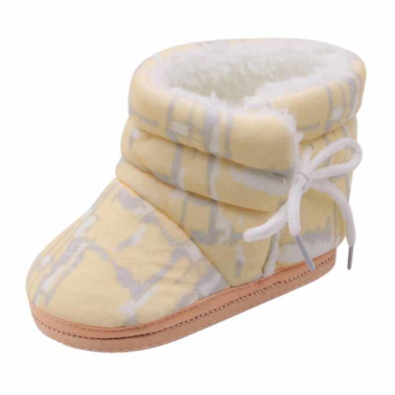 Nóng Bán Không Thường Xuyên In Cotton Khởi Động Phía Dây Đeo Giày Giày Bé Bé Bé Giày Bé Giày Bé Trai Giày Trẻ Sơ Sinh