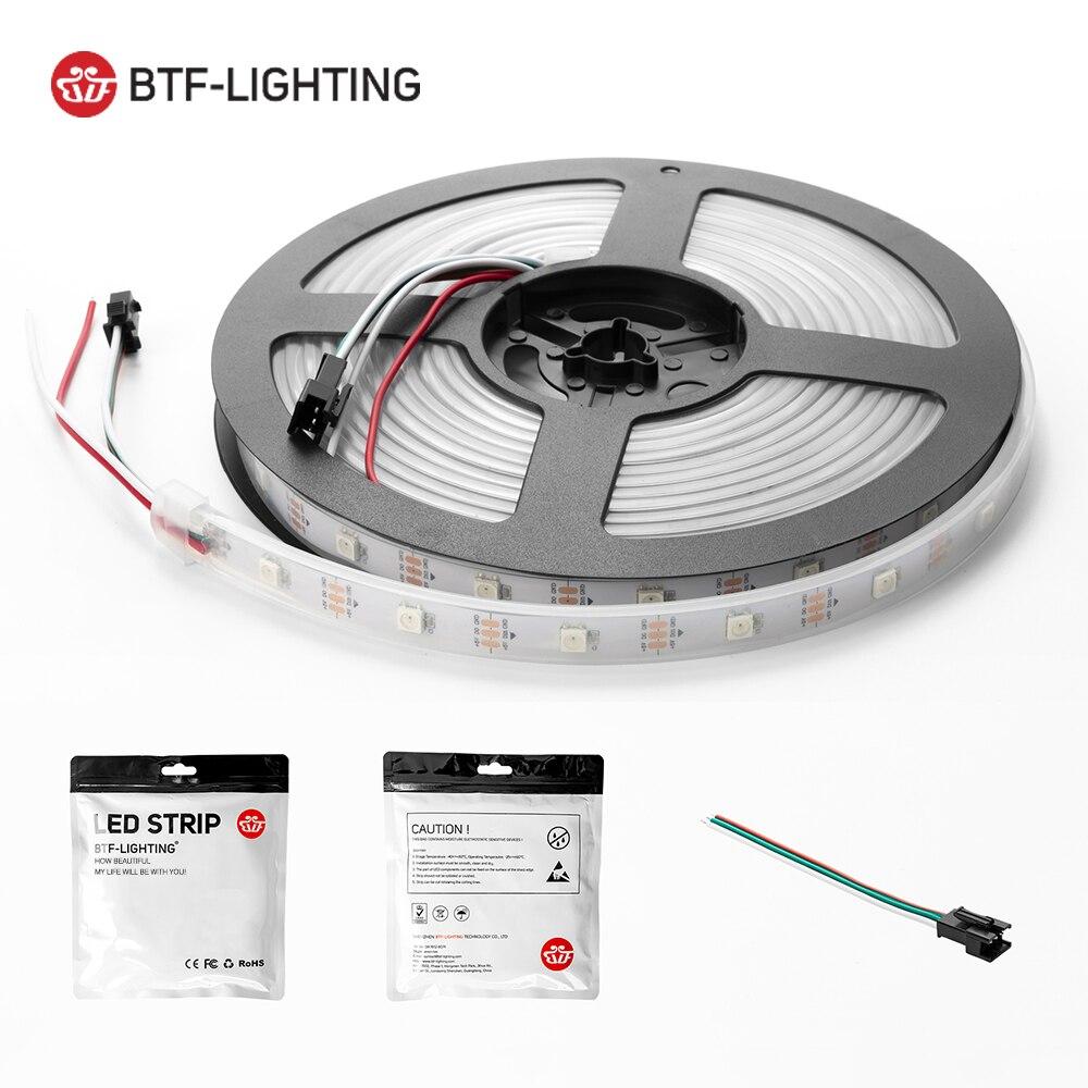 1m 2m 4m 5m WS2812B Led Lights WS2812 RGB Led Strip Light Individually Addressable Led Light Strip Black White PCB IP30 65 67 5V 6