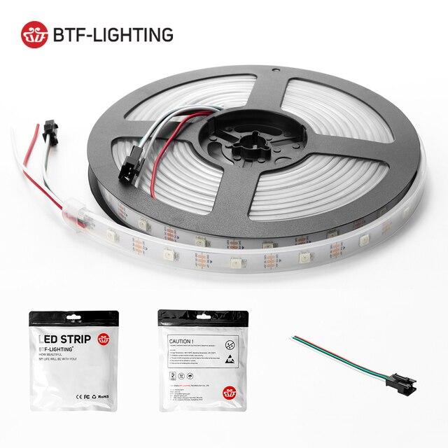 1m/2m/4m/5m WS2812B Led Strip 30/60/74/96/100/144 pixels/leds/m WS2812 Smart RGB Led Light Strip Black/White PCB IP30/65/67 DC5V 5