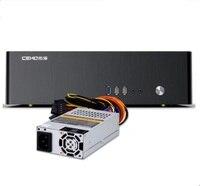 אופקי 9001 כסף זהב שחור אלומיניום מארז מחשב HTPC ITX מארז כולל 220 V אספקת חשמל
