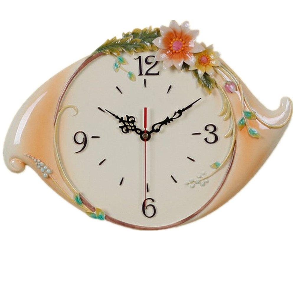 Novelty Rural Wedding Gift Home Decoration Leaves Flower Wall Clock