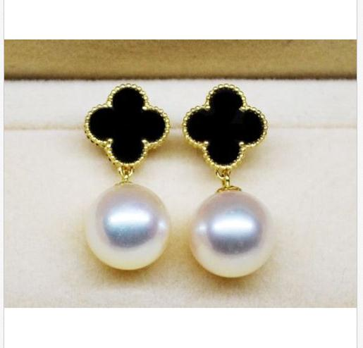 charming round 10-11mm south sea white pearl earring 14kcharming round 10-11mm south sea white pearl earring 14k
