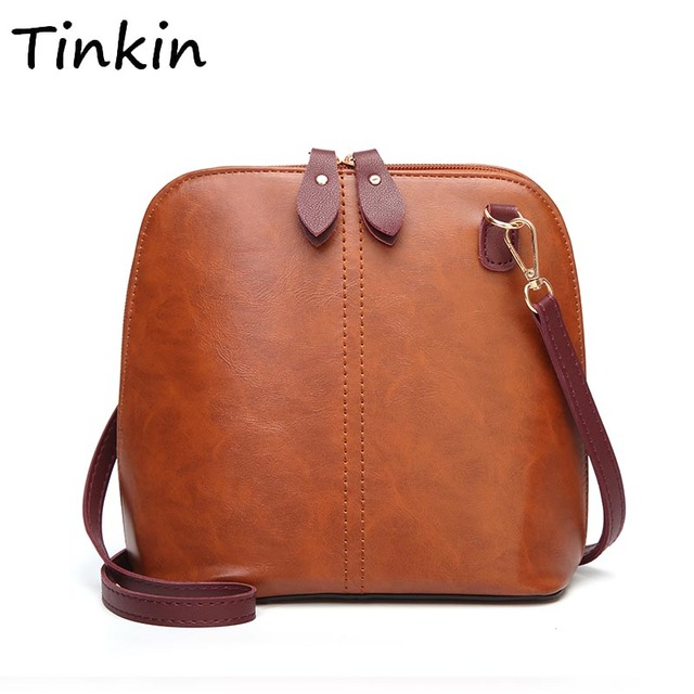 5ef9515c7cb1 Tinkin Women Vintage PU Daily Shoulder Bag Female Elegant Casual Messenger  Bag for Shopping Retro Classy All-match Dames Tassen