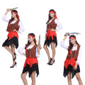 Halloween costumes female adult role playing Pirates of the Caribbean pirate captain dress costumes stage performance clothing
