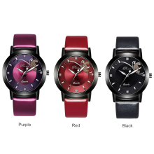 PREMA Women Watches 2018 Ladies Watch  Fashion bracelet clock  purple Leather wristwatch  Feminino Quartz Wrist Watch Butterfly все цены