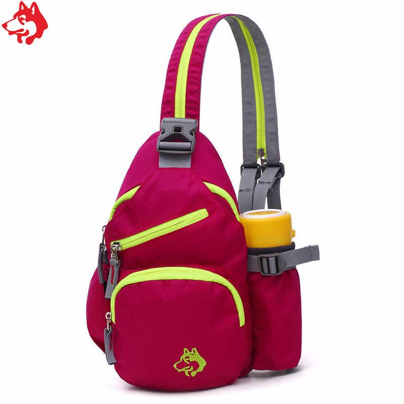 Грудь сумка рюкзак два в одном мешок Кемпинг Сумка синий/розовый/зеленый/оранжевый Мужская Открытый пеший Туризм нагрудная сумка