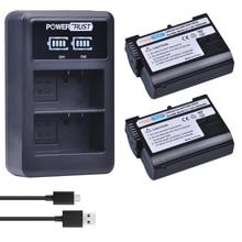 2Pcs 1900mAh EN-EL15 ENEL15 EL15 Battery + LED USB Dual Charger for Nikon D500,D600,D610,D750,D7000,D7100,D7200,D800,D800E,D810,